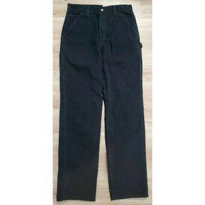Carhartt Mens Washed Duck Work B11 Black Pants 33